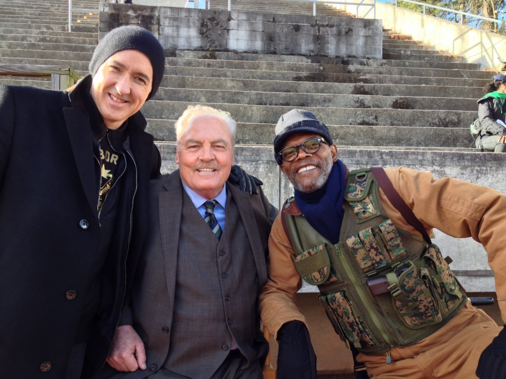 Stacy Keach with John Cusack and Samuel L. Jackson