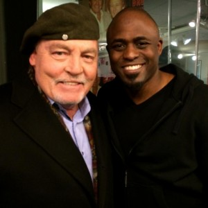 With Wayne Brady at Sirius Radio