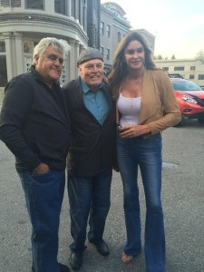 Stacy with Caitlyn Jenner and Jay Leno
