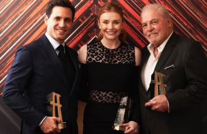 Stacy with Bryce Dallas Howard and Edgar Ramirez